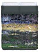 Monetish Egret Duvet Cover