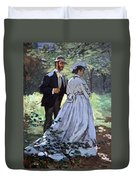 Monet's Bazille And Camille Duvet Cover