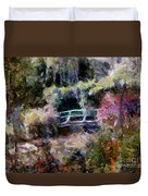 Monet's Bridge In Autumn Duvet Cover