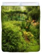 Monet's Garden Dreamscape Duvet Cover