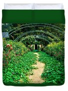 Monet's Gardens At Giverny Duvet Cover