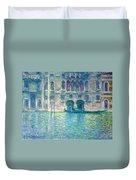 Monet's Palazzo De Mula In Venice Duvet Cover