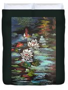 Monet's Pond With Lotus 1 Duvet Cover