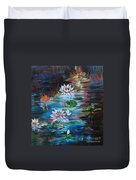 Monet's Pond With Lotus 11 Duvet Cover