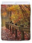 Monet's Trail Duvet Cover by Debra and Dave Vanderlaan