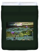 Monet's Waterlily Pond Number Two Duvet Cover