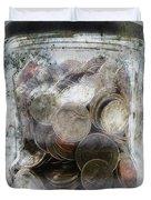 Money Frozen In A Jar Duvet Cover by Skip Nall