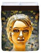Money Love Duvet Cover