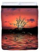 Money Tree Sunset Duvet Cover