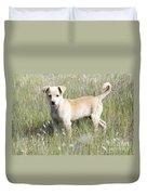 Mongrel Dog Puppy Duvet Cover