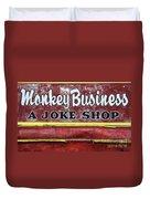Monkey Business A Joke Shop Duvet Cover