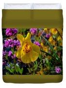 Monkey Flower Duvet Cover