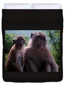 Monkey's Attention Duvet Cover