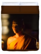 Monks At Yi Peng Duvet Cover