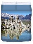 Mono Lake And Sierra Mtns Duvet Cover
