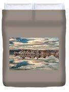Mono Lake Reflections Duvet Cover