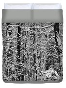 Monochrome Winter Wilderness Duvet Cover