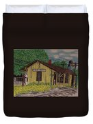 Monon Clear Creek Indiana Train Depot Duvet Cover