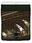 Monorail Depot Disneyland 01 Duvet Cover