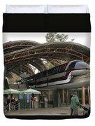Monorail Depot Disneyland 02 Duvet Cover