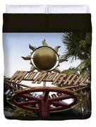 Monorail Signage Disneyland Duvet Cover