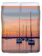 Monroe Harbor Sunrise Duvet Cover