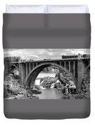 Monroe St Bridge Of Spokane Duvet Cover