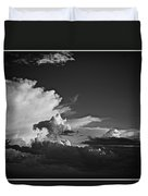 Monsoon Clouds At Sunset Duvet Cover