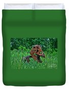 Monster In The Grass Duvet Cover