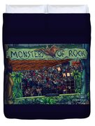 Monsters Of Rock Stage While A C D C Started Their Set - July 1979 Duvet Cover