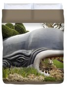 Monstro The Whale At Disneyland Side View Duvet Cover