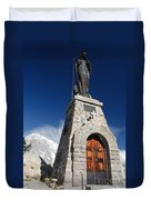 Mont Chetif With Small Chapel Duvet Cover