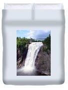 Mont Morency Falls Duvet Cover