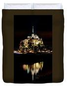Mont Saint Michel At Night 1 Duvet Cover