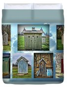 Montage Of Outhouses Duvet Cover