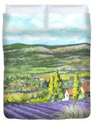 Montagne De Lure In Provence France Duvet Cover