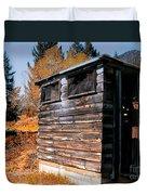 Montana Outhouse 03 Duvet Cover