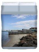 Montauk Port Long Island Duvet Cover