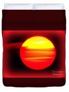 Montauk Sunset Abstract Duvet Cover