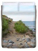 Montauk's Rocky Point Duvet Cover