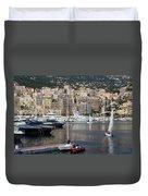 Monte Carlo Sailing - Monaco French Riviera Duvet Cover