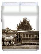 Monterey And Pacific Grove Street Railway Circa 1895 Duvet Cover