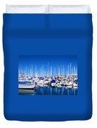 Monterey Bay Yacht Club 19704 Duvet Cover