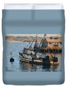 Monterey Fish Company Abstract Duvet Cover