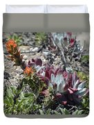 Monterey Indian Paintbrush And Ice Plant Duvet Cover by Bruce Gourley