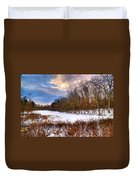 Monterey Lake Snow Day Duvet Cover