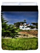 Monterey Lighthouse Duvet Cover