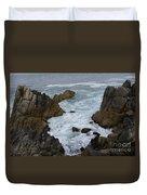 Monterey Rocks - California Duvet Cover