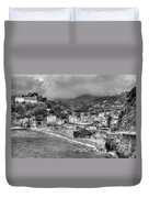Monterosso Al Mare - Cinque Terre In Grey Duvet Cover
