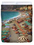 Monterosso Beach Duvet Cover